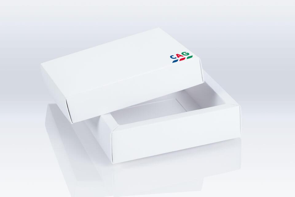 Produktfotografie Muster-Schachtel