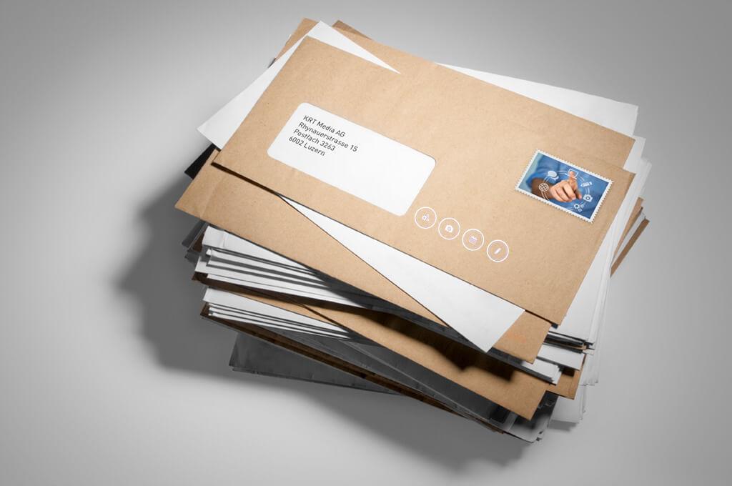 Kuvertdruck Beispielbild