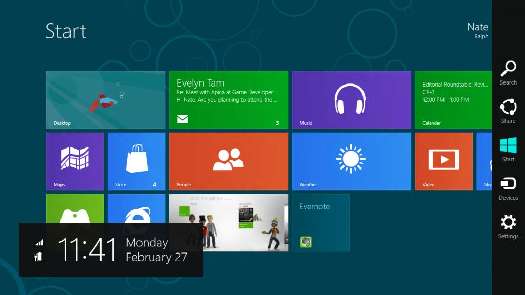 Flat Design im Einsatz bei Microsoft Windows