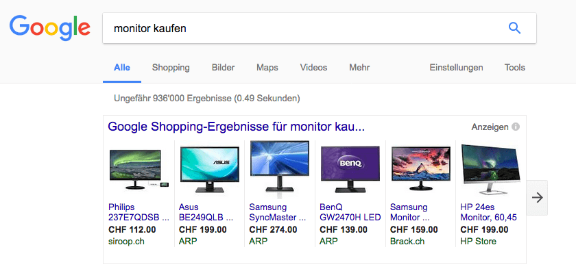 AdWords-Shoppingkampagne