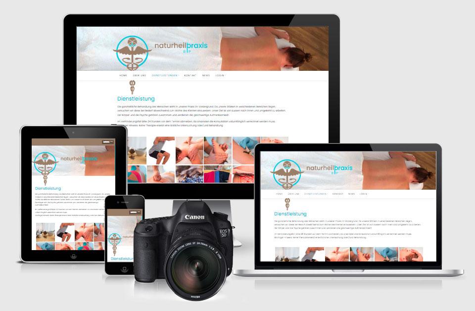 Responsive Webseite und Fotografie für Naturheilpraxis HP
