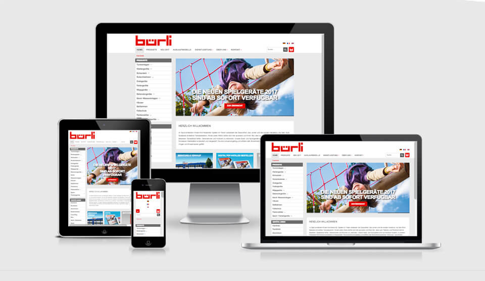 Responsiver Webshop für Bürli AG