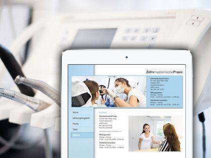 Vorschaubild Website Zahnmedizinische Praxis