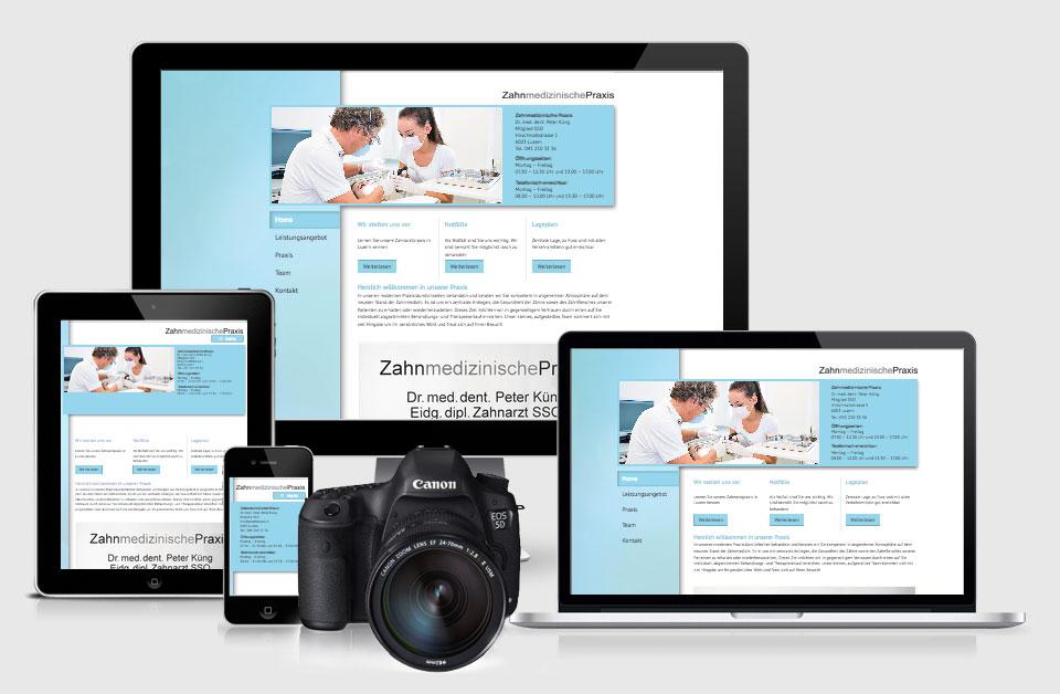 Responsive Website inklusive Fotografie für die Zahnmedizinische Praxis
