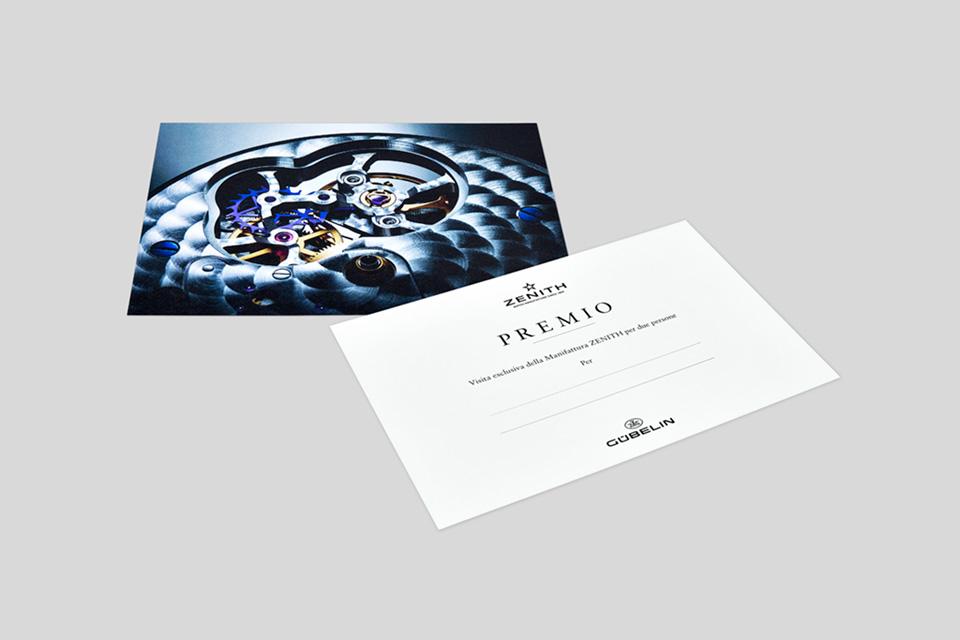 Gübelin Einladungskarte Zenith