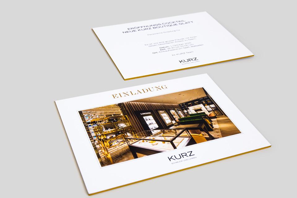 Einladungskarte für KURZ - Bild 01