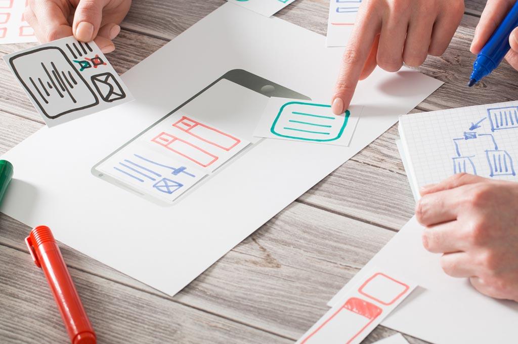 Konzeption und Design der Webseite