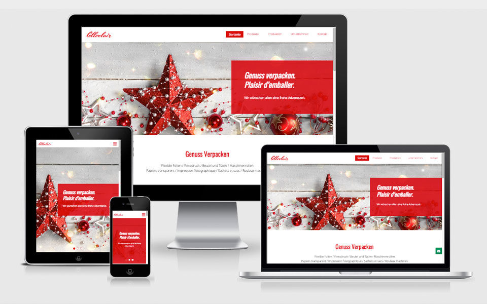 Redesign Webseite Celloclair AG