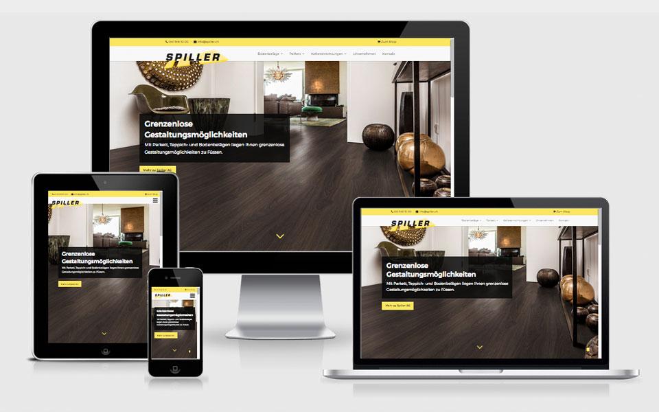 Redesign Webseite Spiller AG