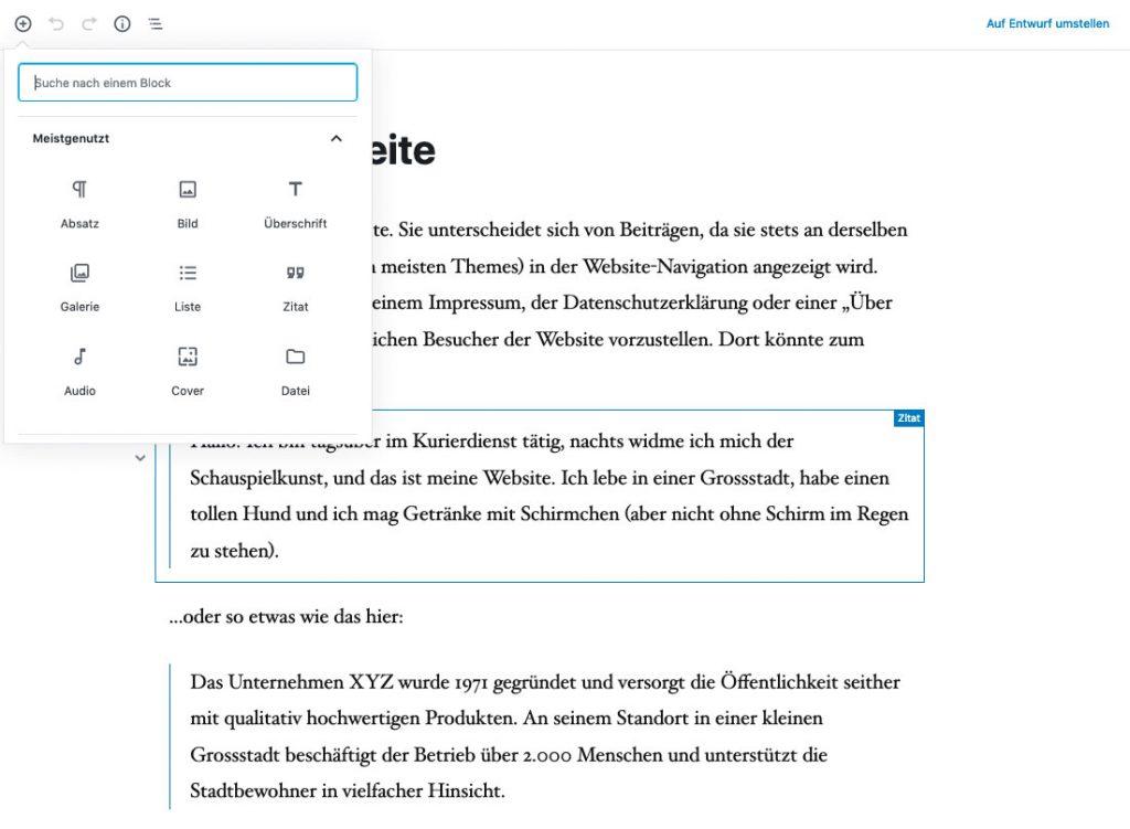 WordPress - Der neue Gutenberg-Editor