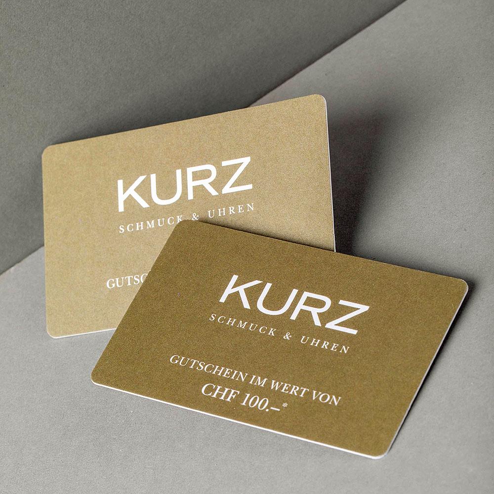 Kundengutscheine für Juwelier KURZ