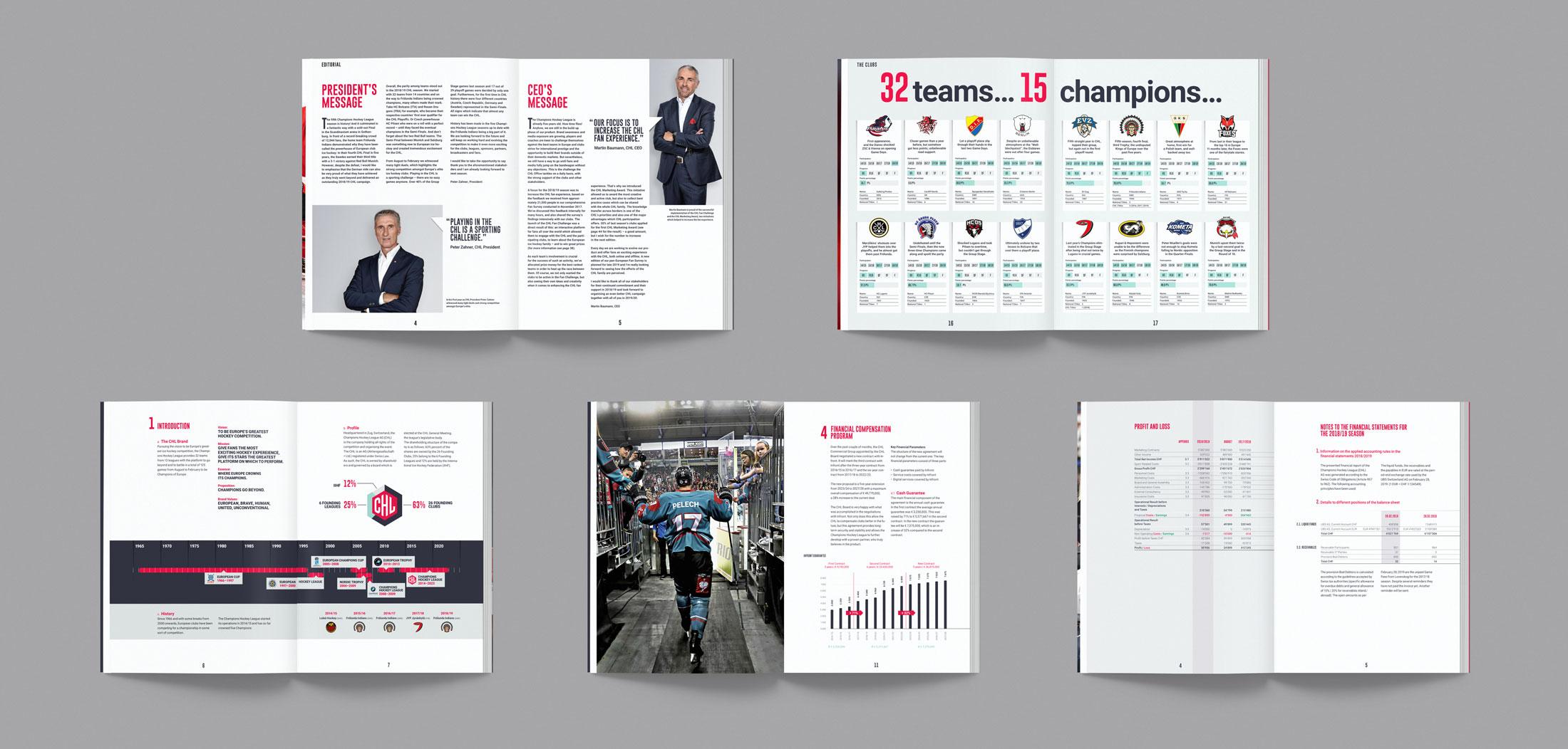 Champions Hockey League Magazin Mockups